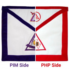 PHP - PIM York Rite Apron Reversible Double-Sided