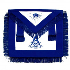 Masonic Past Master Apron Blue With Fringe