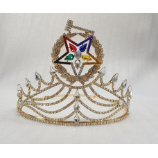 Freemason Masonic OES Grand Matron Crown in Gold with Rhinestones, OES CROWN