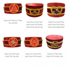 Royal Arch Grand Past High Priest PHP Cap Red