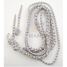 BULLION WIRE AIGUILLETTE (SILVER and BLUE)