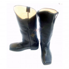 Civil War Leather Cavalry Style Long Shoes
