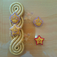 GOLD CORD SHOULDER BOARDS WITH EMBROIDERY BADGES
