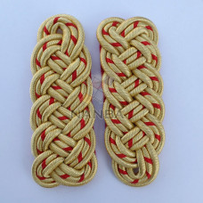 GOLD AND RED 3 PLY SHOULDER BOARD