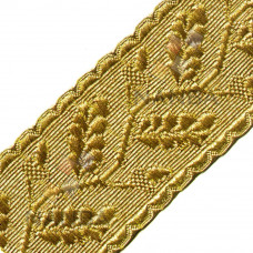 Uniform Gold Braid Or Lace With Acacia Leaves