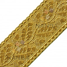 Uniform Gold Braid Or Lace With Acacia Leaves (Rich Pattern)