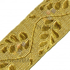 UNIFORM GOLD BRAID OR LACE WITH ACACIA LEAVES (CLEAN BORDER)