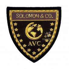BULLION EMBROIDERED SHIELD BADGES