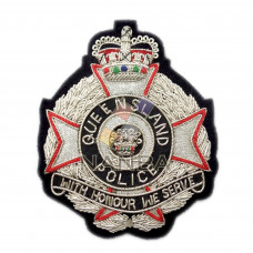 BULLION EMBROIDERED POLICE BADGE
