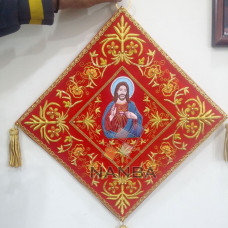 RELIGIOUS EMBROIDERY BANNER