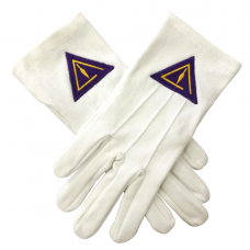 Royal & Select White Cotton Masonic Glove