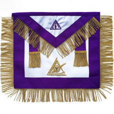 Masonic Apron Council Past Illustrious Master Hand Embroidered
