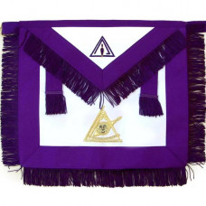 Masonic Past Apron Thrice Illustrious Master Hand Embroidered