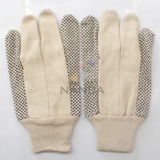Dotted Cotton Canvas Gloves