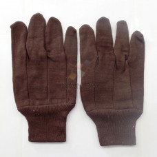 Jersey Gloves Brown Poly/Cotton