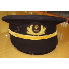 BLACK PEAKED CAP WITH EMBLEM