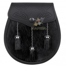 Semi Dress Black Calfskin Celtic Embossed Sporran