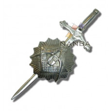 Pewter Masonic Star Kilt Pin