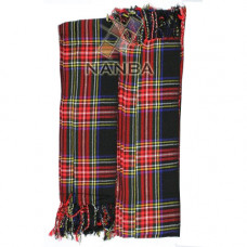 Black Stewart Tartan Piper Plaid Pleated