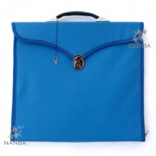 Masonic Regalia File Case Leather Blu - Hard Handle