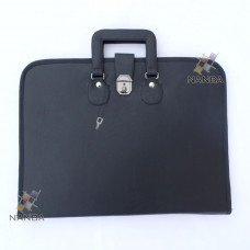 Masonic Regalia File Case Leather Black - Soft Handle