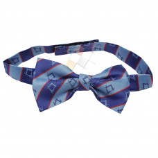 Masonic Bow Tie Blue Striped
