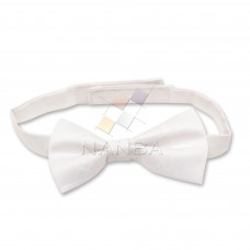 Masonic White Bow Tie with Square and Compass