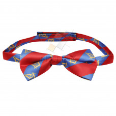Masonic Bow Tie with Square and Compass