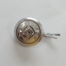 Masonic Apron Button Silver
