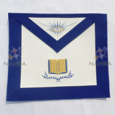 Blue Lodge Regalia Apron Machine Made Embroidery