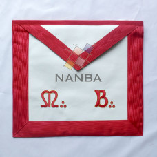 Masonic Red MB Apron