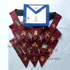 14th Degree Apron & Collars Set