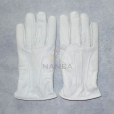 Masonic White Leather Gloves Plain