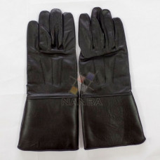 Masonic Black Leather Gloves Plain