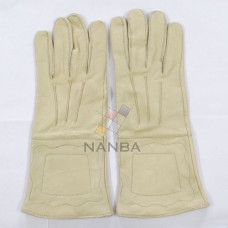 Masonic Plain Leather Gloves