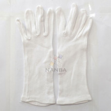 White Cotton Plain Gloves