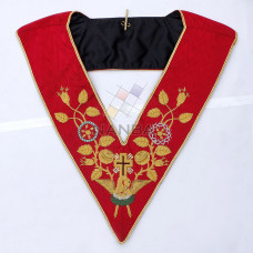 18th Degree Rose Croix Collar - Red