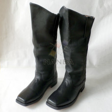 Civil War Leather Black Boots