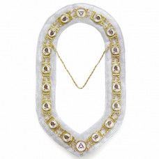 Daughter Of Isis - Masonic Chain Collar - Gold/Silver on White + Free Case