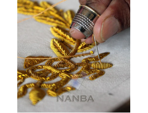 Bullion Hand Embroidery Process