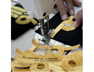 Navy Epaullette Sewing Process