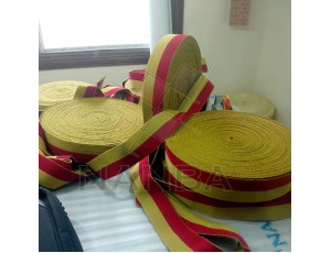 Webbing Yellow and Maroon 001