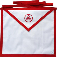 Masonic Apron Holy Royal Arch White Cotton Duck Cloth Member Printed