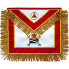 Masonic Apron Massachusetts Chapter Hand Embroidered