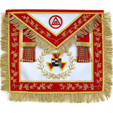 Masonic Royal Arch Apron Grand Priest  Wreath Bullion Hand Embroidered