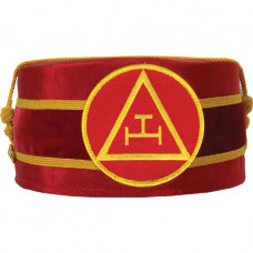 Masonic Royal Arch Cap Triple Tau Red