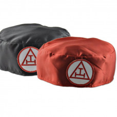 Royal Arch Soft Hat Cap Ceremonial Red Triple Tau