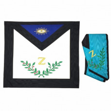 Masonic Apron 4th Degree  Collar Set Machine Embroidered