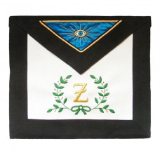 Masonic Scottish Rite Leather Apron  AASR  4th Degree Acacia