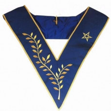 Masonic Collar Thrice Powerful Master Machine Embroidery